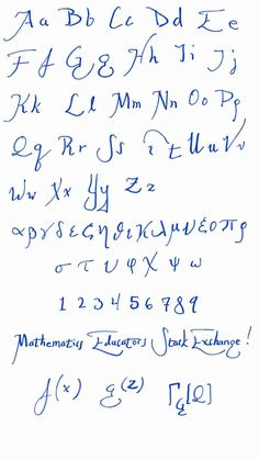 board use What is a good handwriting font for mathematics Cool Handwriting Fonts, Hand Lettering Fonts, Cursive, Best Graffiti, Graffiti Font, Mathematics, Board, Image, Google