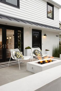 Foxy Black Doors house designs Transitional Patio Orange County