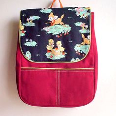 Backpack  Forest Wanderlust Ducklings Picnic by littleoddforest