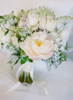 Queen Anne's lace and peonies
