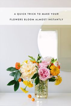 A Quick Trick to Make Your Flowers Bloom Almost Instantly via @PureWow