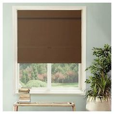 Cordless Magnetic Roman Shades Mountain Chocolate   Chicology®