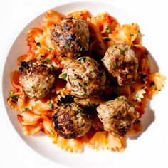 Fennel Pork Meatballs by iamafoodblog #Meatballs #Pork Fennel