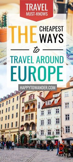 This epic guide details the cheapest and most affordable ways to travel Europe. … This epic guide details the cheapest and most affordable ways to travel Europe. If you're looking to travel Europe on a budget, you can't miss this read! Travel Around Europe, Europe Travel Guide, Europe Destinations, Budget Travel, Travelling Europe, Ways To Travel, Travel Advice, Travel Quotes, Travel Hacks