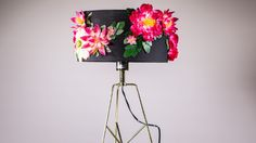 Make your own Anthropologie-style blooming lampshade.