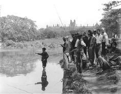 Fishing in Victoria Park in Sydney in the 1930's. v@e.