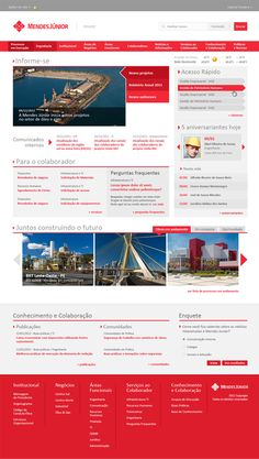 Mendes Junior Intranet by Gabriel Seabra, via Behance