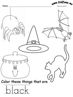 black colors 231x300 Learning Colors Worksheets for