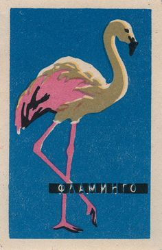 #flamingo #vintage #design matchbook labels