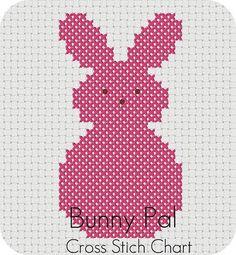 Free Bunny Pal Cross Stitch Chart - Crochet / knit / stitch charts and graphs images cross Free Bunny Pal Cross Stitch Chart Free Cross Stitch Charts, Cross Stitch For Kids, Cross Stitch Animals, Cross Stitch Patterns, Cross Stitching, Cross Stitch Embroidery, Embroidery Patterns, Punto Smok, Easter Cross
