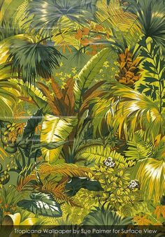 Tropicana by Sue Palmer wallpaper from Surface View