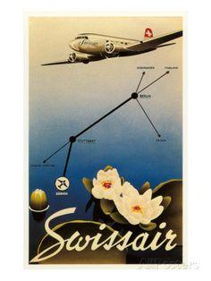 Airline Travel Poster Impressão artística