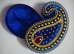 Haldi kumkum box Cd Crafts, Hobbies And Crafts, Jewelry Crafts, Diy And Crafts, Arts And Crafts, Diwali Decorations, Indian Wedding Decorations, Festival Decorations, Ayurveda