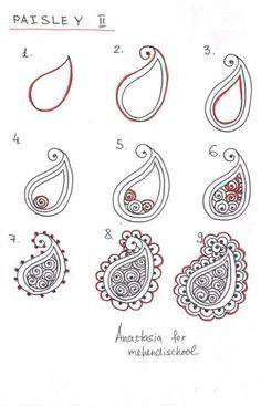 Henna Tattoo Designs, Henna Hand Designs, Beginner Henna Designs, Henna Tattoos, Mehndi Designs, Henna Drawings, Zentangle Drawings, Doodle Drawings, Easy Drawings
