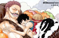 Katakuri & Luffy - One Piece Anime One, I Love Anime, Manga Anime, One Piece World, Piece Of Me, One Peace, Girl Quotes, Disney Characters, Fictional Characters