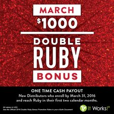 DOUBLE the groceries! DOUBLE the credit card payment! DOUBLE the stress relief! I have several new distrubutors on my team this week, and all plan to get the DOUBLE ✌ Ruby Bonus! Join us! www.careycrossley.com #thegoodlife #doublethefun #stressrelief