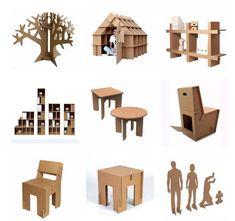 Muebles modulares de cartón, hazlo tu mismo / EcoInventos.com