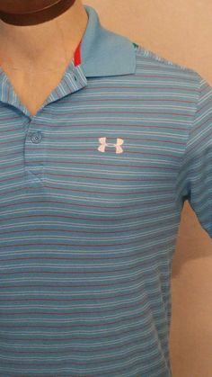 Under Armour Heat Gear Loose Striped Short Sleeve Golf Polo Shirt Mens Small EUC   Clothing, Shoes & Accessories, Men's Clothing, Casual Shirts   eBay!