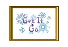 Let it Go Frozen Cross Stitch Pattern PDF Instant Download