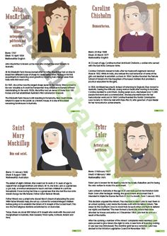 Teaching Resource: A set of posters highlighting the achievements of some of the most well-known Australians from the late 1800s and early 1900s.