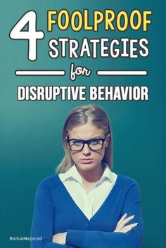 4 Foolproof Strategies for Disruptive Behavior 4 fool proof strategies for dealing with disruptive behavior in the classroom! {Great tips and a great freebie at [. Classroom Discipline, Classroom Management Strategies, Behaviour Management, Teaching Strategies, Teaching Tips, Class Management, Teaching Career, Teaching Techniques, Student Behavior