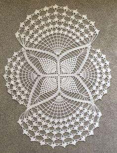 Free Crochet Doily Patterns, Crochet Placemats, Crochet Snowflake Pattern, Crochet Lace Edging, Crochet Snowflakes, Crochet Diagram, Thread Crochet, Filet Crochet, Crochet Designs