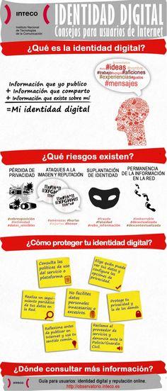 Identidad digital: consejos para usuarios de Internet #infografia #infographic