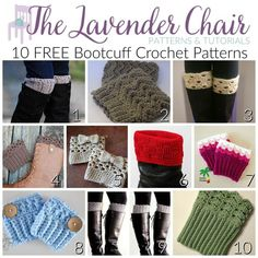 With more then 10 of these free bootcuff crochet patterns you can stay looking fashoinable all winter long! Get all the free patterns here!