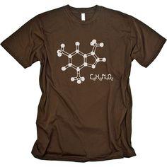 Caffeine Molecule T-shirt - Babbletees