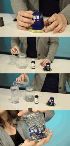 DIY mason jar snow globe!