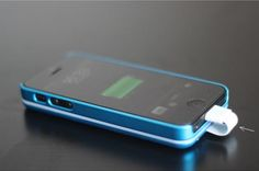 Case-Sticky-on Removable External Battery for iPhone 5 - DamnCoolGadgets
