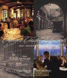 """Chicago Restaurants by Samors & Bronsky  """"An attractive, slightly oversized history of classic Chicago restaurants.  Classic here is defined by the authors as those restaurants """"that stood out as special eating establishments.""""  Interspersed between photographs are Chicagoans anecdotes about eating at the restaurant or restaurateurs and chefs stories about opening the restaurant.  Take a trip down memory lane or help the foodie in your life discover new places to go."""" - Lori, Reference"""