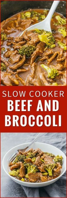Check out the slow cooker version of my popular beef and broccoli recipe. Easier to make healthier and tastes way better than takeout. crock pot easy stir fry keto healthy recipe pioneer woman slow cooker paleo chinese sauce noodles via Savory Tooth Broccoli Crockpot, Broccoli Beef, Healthy Crockpot Recipes, Beef Recipes, Chicken Recipes, Yummy Recipes, Crockpot Meals Easy Families, Hamburger Crockpot Meals, Beef And Noodles Crockpot