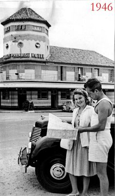 Judy Jean Witham and Jimmy McLaren outside the Surfers Paradise Hotel in 1946  tattons.wordpress Paradise Hotel, Surfers, Gold Coast, 1940s, Art Ideas, Wordpress, Horror, Hotels, Australia