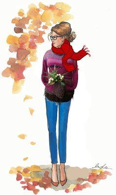 SWEATER DEGRADE ROSA MARRON