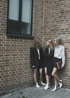 Tilda Lindstam, Ondria Hardin and Kirstin Kragh Liljegren photographed by Patrick Demarchelier for Zara Fall 2013