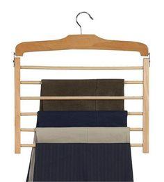 Multi Slack Hanger / Natural & Chrome