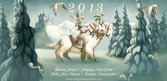 Benjamin Lacombe: Felicitación de Año Nuevo (2013)