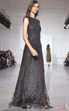 長禮服晚裝隱約透視的美腿曲線優雅性感。