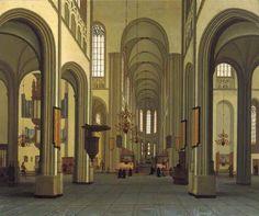 Hendrick van Vliet - interieur van de Dom 1674. Int jaer 1672 // is den dom dus- // danich geweest // C. van Vliet // A° 1674