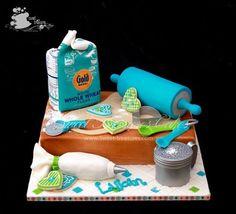 Pastel de pastelera para pastelera.