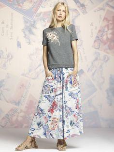 Short-sleeved sweatshirts love maxi skirts. #PeterSomForKohls #Kohls