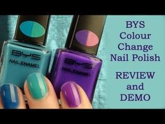 REVIEW and DEMO - BYS Colour Change Nail Polish - love the purple/pink combo!