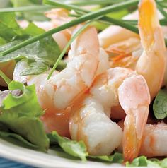 Before you grill them, marinate the shrimp in a little lime vinaigrette and cumin. That extra step will add so much flavor to this Grilled Shrimp Salad.