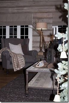 hytte Stone Cottages, Cabins And Cottages, Scandinavian Cottage, Alpine Style, Cabin Fever, Cottage Style, Neutral Colors, Window Treatments, Cosy