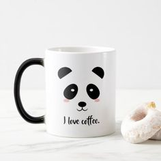 Panda Mug With 3D Ears Novelty Tea Coffee Cup Kids Childrens Pen Holder Gift Toy