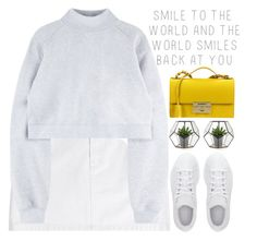 """the world smiles back at you"" by evangeline-lily ❤ liked on Polyvore featuring Prada, Marc by Marc Jacobs, Salvatore Ferragamo, adidas, marcjacobs and Fall2016"