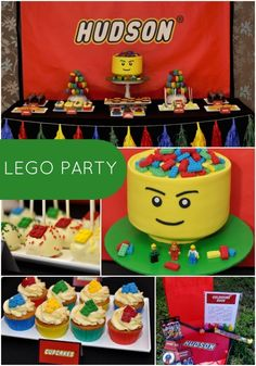 Lego birthday party ideas for boys www.spaceshipsand… Lego birthday party ideas for boys www. Lego Themed Party, Lego Birthday Party, 6th Birthday Parties, Cake Birthday, Birthday Celebration, 5th Birthday Ideas For Boys, Lego Parties, 26th Birthday, Lego Invitation
