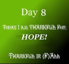 It Crossed My Mind: Hope  #ThankfulIn(F)All