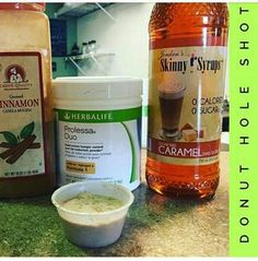 Herbal Life Donut Hole Shot with Prolessa Duo Herbalife Healthy Meal, Herbalife Meal Plan, Herbalife Shake Recipes, Herbalife Weight Loss, Protein Shake Recipes, Herbalife Nutrition, Protein Shakes, Protein Smoothies, Healthy Shakes